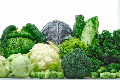 Cruciferous vegetables - cabbage, cauliflower, broccoli, brussel sprouts, kale.  Powerful natural healing agents.