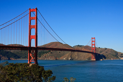The bridge to Marin County, CA